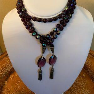 Jewelry - VINTAGE..Aurora borealis bead Laurier